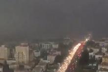 Görüntüler dehşete düşürdü!  İstanbul da fırtınanın gelişi