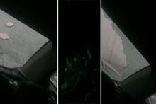 Seyir halindeki otomobilin camları patladı