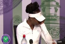 Tenisçi Venus Williams, ağlayarak basın toplantısını terk etti