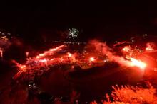 'Antalyasporlular günü' etkinliklerinde yangın faciasının eşiğinden dönüldü