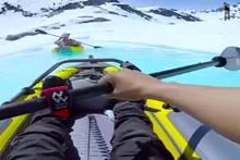 Buzul ırmağında muhteşem kano keyfi