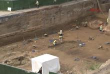 Metro istasyon inşaatında tarihi kalıntılar bulundu
