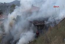 Ankara'da korkutan gecekondu yangını