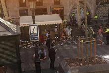 Barselona'da bir araç yayaların arasına daldı