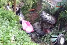 Sakarya'da katliam gibi kaza! İşçileri taşıyan traktör devrildi