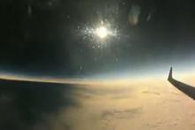 Uçakta güneş tutulmasını çekti! Böylesini ilk kez izleyeceksiniz