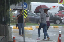 İstanbul'un batısında yağmur başladı