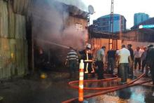 Sarıyer'de kurbanlık hayvanların bulunduğu barınakta yangın