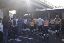 Ankara da otobüs kazası! Çok sayıda ölü var