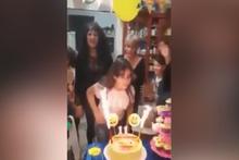 Doğum günü pastası alev topuna dönüştü!