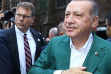 Cumhurbaşkanı Erdoğan ABD'de coşkulu karşılama