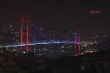 Şehitler Köprüsü Slovenya renklerine büründü