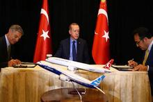 Cumhurbaşkanı, THY-Boeing imza törenine katıldı