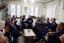 Erdoğan şehit evini ziyaret edip dua etti!