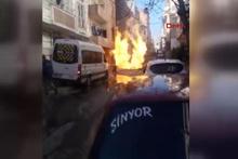 Küçükçekmece'de doğalgaz patlaması