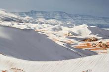 Sahra Çölü'ne kar yağdı