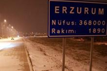 Erzurum, Kars ve Tunceli'de kar yağışı etkili oldu