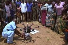 Uzaktaki köylere ilaç ulaştıran dronelar