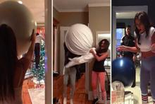 Fitness topunu kullanarak firbirlerini olur olmadık yerde perişan eden çift
