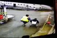 Rusya'da inanılmaz kaza kamerada!