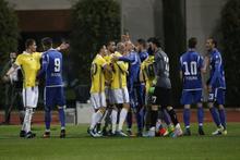Fenerbahçe-Kukesi maçında kavga çıktı!