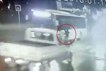 Ortaköy'de korkunç kaza! Önce otobüs sonra kamyonet çarptı!