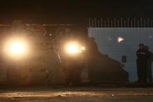 Sınır Kapısı'ndan Azez bölgesine askeri araç sevkiyatı yapıldı