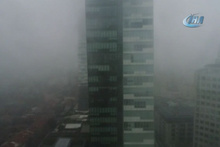 Sis altındaki İstanbul havadan görüntülendi