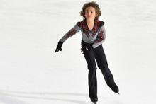 12 yaşındaki buz pateninde dünya rekoru kırdı