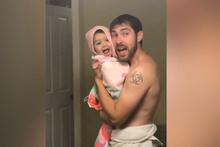 Minik kızıyla düet yapan babanın muhteşem anları