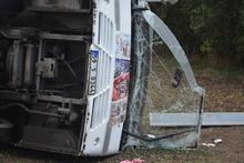 Tekirdağ'da işçi servisi devrildi: Çok sayıda yaralı var!