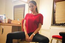Merve Sevi'nin bacak pozu olay oldu!