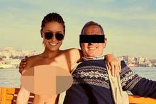 Skandal manken Türkiye'de! Herkesin içinde çırılçıplak fotoğraflar çektirdi