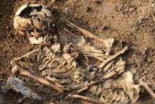 Haydarpaşa'da bin yıllık iskelet bulundu