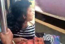 Trenden düşen kadının korkutan anları kamerada