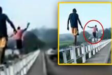 Köprü üzerinde şov yapan gencin korkunç sonu