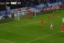 Karius'un Malmö maçında yediği gol Avrupa'nın dilinde