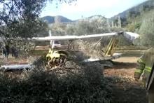 Edremit'te tek kişilik uçak düştü