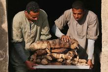 Mısır'da büyük keşif! Mumyalanmış bir şekilde bulundu