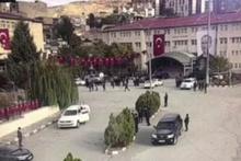 Şırnak'ta üzerinde C-4 olan İHA'nın valiliğe düşme anı kamerada!