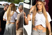Jennifer Lopez'in cesur tangalı kıyafeti şaşırttı