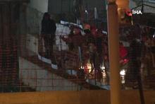 Ümraniye'de metro inşaatı yanındaki yol çöktü 2 kişi toprak altında