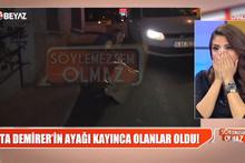 Ata Demirer'in talihsiz kazası! Yardımına muhabirler yetişti