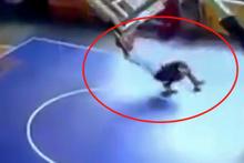 Basketbol salonunda korkunç olay