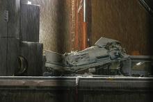 Ankara'daki Yüksek Hızlı Tren kazası enkazına kar engeli