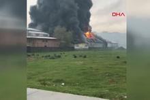 İstanbul Arnavutköy'de fabrika yangını