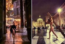 Çıplak manken Ayasofya'dan sonra Vatikan'da da soyundu
