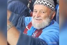 Trabzonsporlu ihtiyar delikanlının gol sevinci