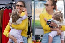 Irina Shayk pazara çıktı kızı rahat bırakmadı