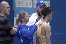 Güreş hakeminden şok hareket! Zorla saçlarını kesti